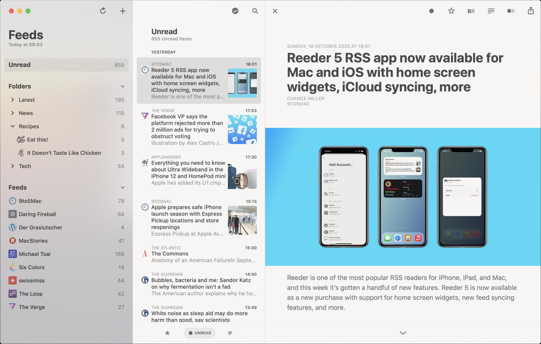 Download Reeder App for Mac